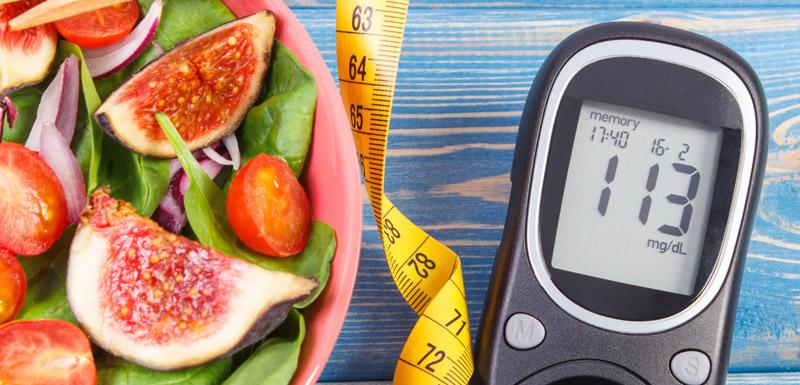 légumes glucomètre régime